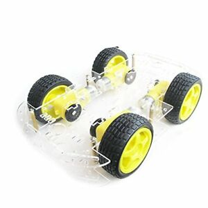 Emo 4 Wheel 2 Layer Robot Smart Car Chassis Kits With Speed Encoder For Ardui