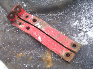 Original Massey Harris 555 Diesel Tractor draw Bar Support Brkts 1957
