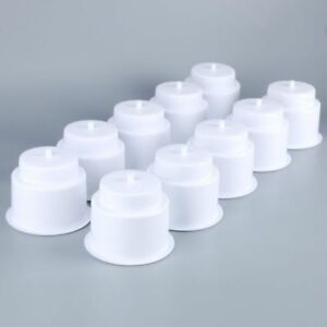 50pack White Boat Recessed Drop In Plastic Cup Drink Can Holder With Drain cga