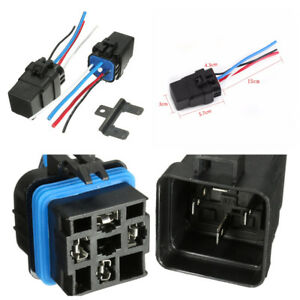 Integrated Car Relay Wire 12v Dc 40a 4pin Auto Fuse Relay Socket Kit Waterproof