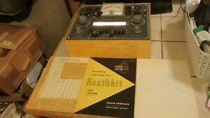 Vintage Heathkit Tc 2 Vacuum Tube Tester Excellent Working With Manual