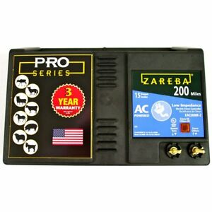 Zareba Eac200m z Ac powered Low impedance 200 mile range Charger W Free Storm G