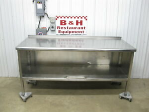 72 X 30 Heavy Duty Stainless Steel Kitchen Cabinet Work Prep Table 6