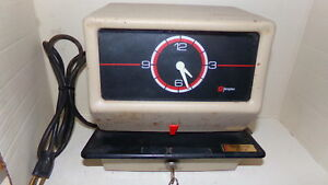 Very Heavy Duty Vintage Simplex 0002 Time Clock With Key Ships Free