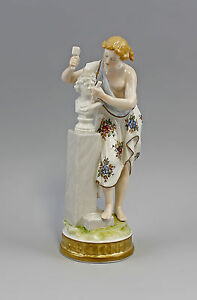 Porcelain Figurine Allegory Of The Sculpture Ens H24cm 9941485