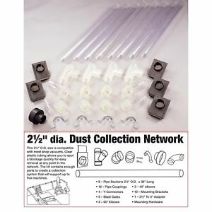 Woodriver 2 1 2 Clear Dust Collection Network
