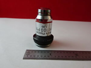 Wild Heerbrugg Swiss Objective Phase 100x Microscope Optics Part As Is 88 91 a