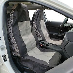 Black Truck Car Seat Cover Mid size Pickups Gmc Sierra 1500 Waterproof Canvas