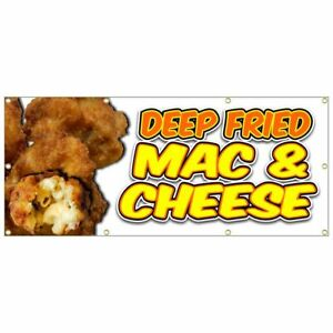 Deep Fried Mac And Cheese Banner Chicken Tenders Fries Chili Dog Nachos 36x84