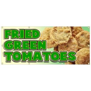 Fried Green Tomatoes Banner Deep Fried Hot Chili Dog Chicken Lemonade 36x84
