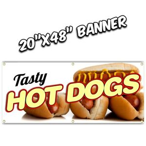 Hot Dog Banner Deep Fried Chili Tenders Chicken Lemonade Nachos French Fries