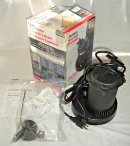 New Flotec Fp0s3250a Automatic Submersible Sump Pump 1 2hp 3630 Gph