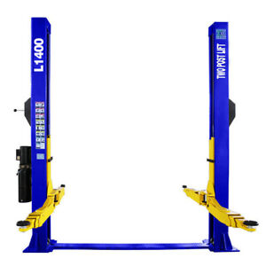 Two Post L1400 Auto Lift 14 000 Lb Capacity Car Vehicle Lift 110v Floor Plate