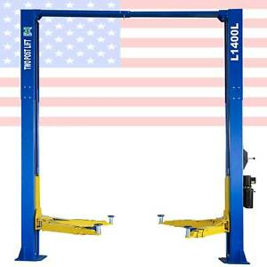 Two Post L1400l Auto Car Lift Truck Hoist Overhead 14 000 Lb Capacity 220v