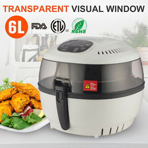 Electrical Digital Hot Air Fryer Oilless Griller Roaster W 8 Cooking Preset