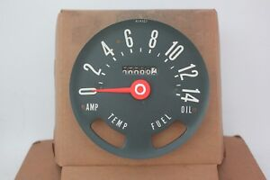 Sw Stewart Warner Vintage Jeep Cj6 Speedometer Gauge Meter Fuel Oil Temp Amp