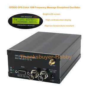 10m Gpsdo Gps Clock Lcd gps Disciplined Oscillator With Lcd Display Frequency