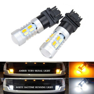 2x High Power 3157 Dual Color Switchback 20 Smd 5730 Led Bulbs Turn Signal Light