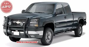 Fits 1999 2002 Chevy Silverado 2500 Grill Brush Guard Push Crash Bar Black