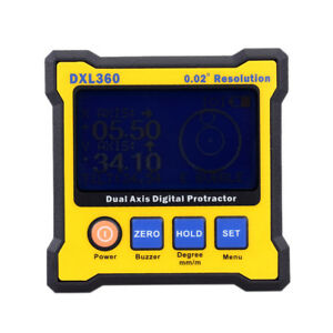 Digital Dual Axis Angle Protractor Level Magnetic Gauge Meter Dxl360 With 5 Side