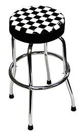 Atd Tools Shop Stool With Checker Design For The Shop Garage Basement Bar Etc