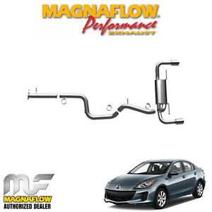 Magnaflow 3 Cat Back Stainless Dual Exhaust Kit 2010 2013 Mazda 3 2 3l 15557