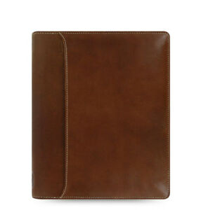 Filofax A5 Lockwood Zip Diary Notebook Cognac Leather Planner Organiser 021693