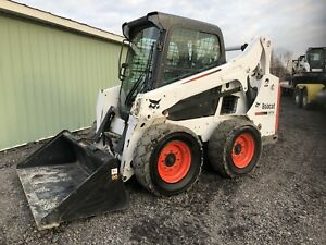 2014 Bobcat S570 Skid Steer Loader Enclosed Cab Heat And Ac Great To Plow Snow