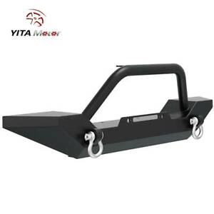 Yitamotor Powder Coated Front Bumper d ring For 1987 2006 Jeep Wrangler Yj Tj