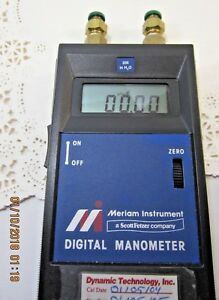 Meriam Manometer 200 Inches H2o Works Properly