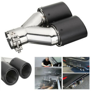 Carbon Fiber Color Car Truck Exhaust Dual Tail Pipe Tip Id 60 63mm Od 89mm Inlet