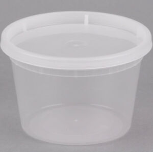 240 Case 16 Oz Microwavable Clear Round To Go Plastic Deli Food Container