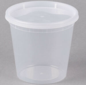 240 Case 24 Oz Microwavable Clear Round To Go Plastic Deli Food Container