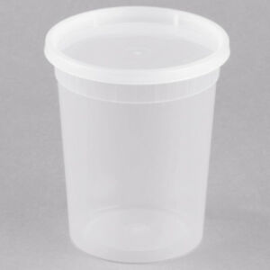 240 Case 32 Oz Microwavable Clear Round To Go Plastic Deli Food Container