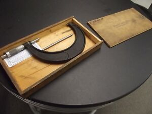 Brown And Sharpe Micrometer 5 6 Inches With Original Wooden Box
