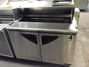 Turbo Air Tst 48sd 48 2 Door Refrigerated Sandwich salad Prep Table