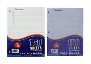 Wholesale 3 hole Filler Paper College Or Wide Ruled 24 X 150 Sheets 3600 Sheets
