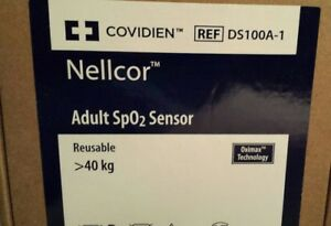 New Factory Sealed Nellcor Covidien Adult Spo2 Sensor Ds100a Free Shipping