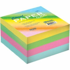 Wholesale Memo Note Paper Cube Pad 500 Sheet 3 3 85mm Lot Of 48 Rainbow Pastel