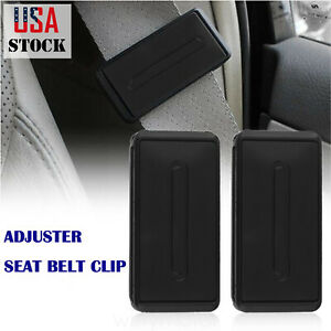 2 X Car Seatbelt Buckle Strap Comfort Seat Belt Clips Extender Shoulder Stopper