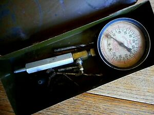 Vintage Allen Motor Tester Antique Car Compression Tester Tool G4 Untested