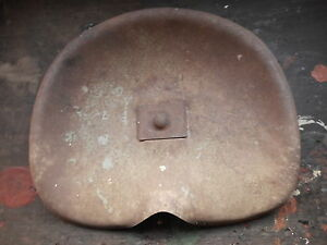 Antique Metal Tractor Seat Primitive Repurpose Rusty Used As Is
