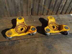2 Vintage Tri Wheel Dolly Casters Furniture Appliance Dollies Industrial Used