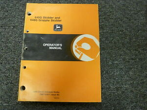 John Deere 640g Skidder 648g Grapple Skidder Owner Operator Manual Omt153911