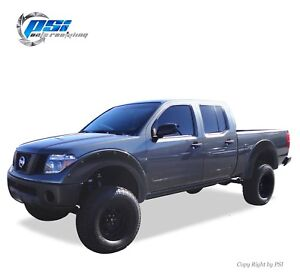 Black Textured Pop out Fender Flares 05 14 Fits Nissan Frontier 73 3 Styleside