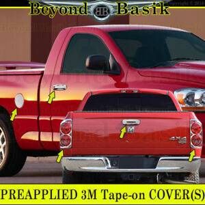 07 08 Dodge Ram 1500 Chrome Door Handle Covers W pk gas tailgate taillight Bezel