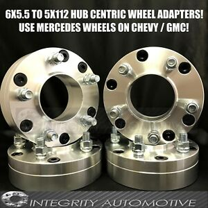 6x5 5 To 5x112 Wheel Adapters Hub Centric 2 Inch Use 5 Lug Wheels On 6 Lug Truck