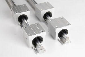 New Arrival Sbr20 1000mm Supported Linear Rail Shaft Rod With 4pcs Sbr20uu