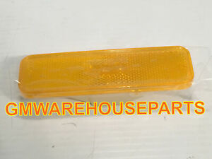 1982 1987 El Camino Front Fender Yellow Side Marker Light Lamp New Gm 929986