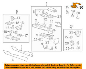 2010 2015 Camaro Parking Brake Lever W bracket And Cable Chrome Button 22747943